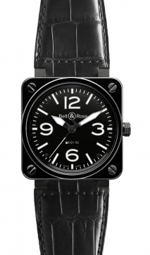 Bell & Ross BR01-92 Automatic 46mm Mens watch, model number - BR01-92 Ceramic, discount price of £3,222.00 from The Watch Source