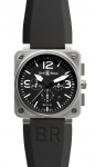 Bell & Ross BR01-94 Chronograph 46mm BR01-94 Steel Black watch