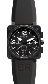 Bell & Ross BR01-94 Chronograph 46mm Mens watch, model number - BR01-94 Carbon, discount price of £3,591.00 from The Watch Source