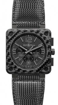 Bell & Ross BR01-94 Chronograph 46mm Mens watch, model number - BR01-94 Carbon Fiber Phantom, discount price of £6,270.00 from The Watch Source
