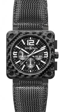 Bell & Ross BR01-94 Chronograph 46mm Mens watch, model number - BR01-94 Carbon Fiber, discount price of £5,652.00 from The Watch Source