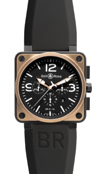 Bell & Ross BR01-94 Chronograph 46mm Mens watch, model number - BR01-94 Pink Gold Carbon, discount price of £7,200.00 from The Watch Source