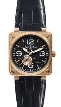 Bell & Ross BR01-97 Power Reserve 46mm Mens watch, model number - BR01-97 Pink Gold, discount price of £14,998.00 from The Watch Source