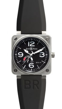 Bell & Ross BR01-97 Power Reserve 46mm Mens watch, model number - BR01-97 Reserve de Marche, discount price of £2,826.00 from The Watch Source