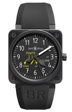 Bell & Ross BR01 Flight Instruments Mens watch, model number - BR01 Climb, discount price of £2,890.00 from The Watch Source