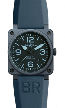 Bell & Ross BR03-92 Automatic 42mm Mens watch, model number - BR03-92 Blue Ceramic, discount price of £2,592.00 from The Watch Source