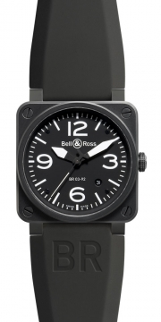 Bell & Ross BR03-92 Automatic 42mm Mens watch, model number - BR03-92 Carbon, discount price of £2,250.00 from The Watch Source