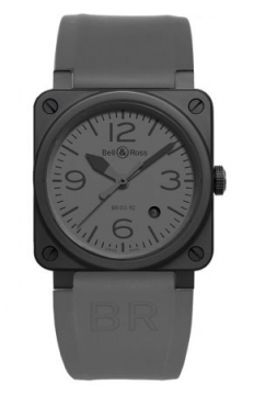 Bell & Ross BR03-92 Automatic 42mm Mens watch, model number - BR03-92 Commando Ceramic, discount price of £2,380.00 from The Watch Source