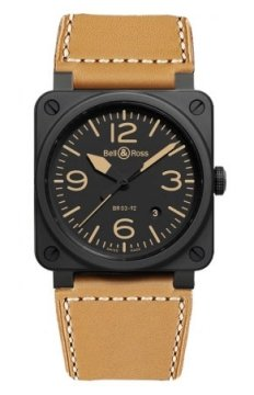 Bell & Ross BR03-92 Automatic 42mm Mens watch, model number - BR03-92 Heritage Ceramic, discount price of £2,520.00 from The Watch Source