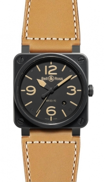 Bell & Ross BR03-92 Automatic 42mm Mens watch, model number - BR03-92 Heritage, discount price of £2,421.00 from The Watch Source