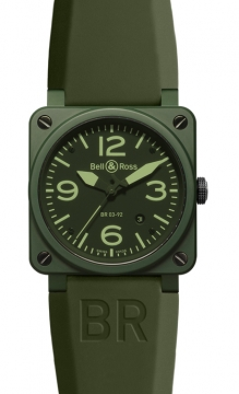 Bell & Ross BR03-92 Automatic 42mm Mens watch, model number - BR03-92 Military Ceramic, discount price of £2,445.00 from The Watch Source
