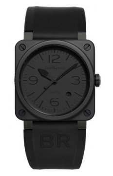 Bell & Ross BR03-92 Automatic 42mm Mens watch, model number - BR03-92 Phantom Ceramic, discount price of £2,380.00 from The Watch Source