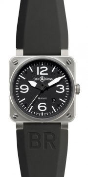 Bell & Ross BR03-92 Automatic 42mm Mens watch, model number - BR03-92 Steel, discount price of £1,957.00 from The Watch Source