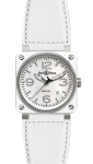 Bell & Ross BR03-92 Automatic 42mm BR03-92 White Ceramic Calfskin watch