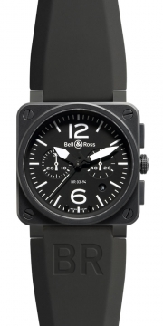 Bell & Ross BR03-94 Chronograph 42mm Mens watch, model number - BR03-94 Carbon, discount price of £3,343.00 from The Watch Source