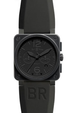 Bell & Ross BR03-94 Chronograph 42mm Mens watch, model number - BR03-94 Phantom, discount price of £3,429.00 from The Watch Source