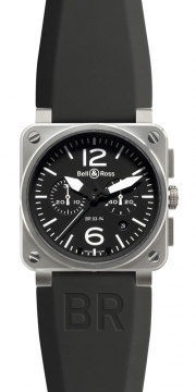 Bell & Ross BR03-94 Chronograph 42mm Mens watch, model number - BR03-94 Steel, discount price of £3,055.00 from The Watch Source