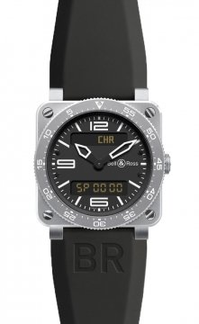 Bell & Ross BR03 Type Aviation Quartz 42mm Mens watch, model number - BR03 Type Aviation Steel, discount price of £2,010.00 from The Watch Source