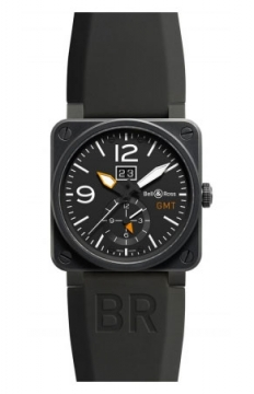 Bell & Ross BR03-51 GMT 42mm Mens watch, model number - BR0351-GMT-CA, discount price of £2,805.00 from The Watch Source