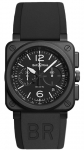 Bell & Ross BR03-94 Chronograph 42mm BR0394-BL-CE watch