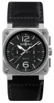 Bell & Ross BR03-94 Chronograph 42mm BR0394-BL-SI/SCA watch