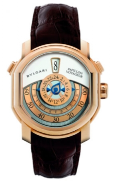 Bulgari Daniel Roth Papillon Voyageur GMT Jumping Hours Mens watch, model number - brrp46c14glgmtp, discount price of £28,660.00 from The Watch Source