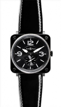 Bell & Ross BR Series Midsize watch, model number - BRS 98 Black Dia, discount price of £2,635.00 from The Watch Source