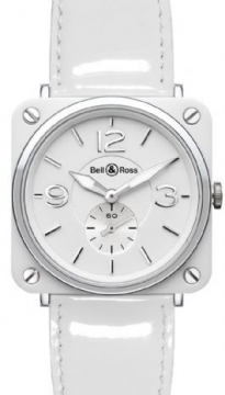 Bell & Ross BR Series Midsize watch, model number - BRS 98 White, discount price of £1,665.00 from The Watch Source