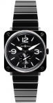 Bell & Ross BR S Quartz 39mm BRS Black Ceramic Diamond watch
