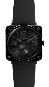 Bell & Ross BR S Quartz 39mm Ladies watch, model number - BRS Black Ceramic Phantom, discount price of £1,669.00 from The Watch Source