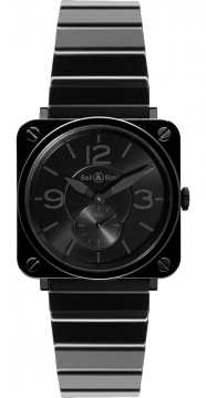 Bell & Ross BR S Quartz 39mm Ladies watch, model number - BRS Black Ceramic Phantom Bracelet, discount price of £2,133.00 from The Watch Source