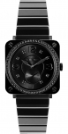 Bell & Ross BR S Quartz 39mm BRS Black Ceramic Phantom Diamond Bracelet watch