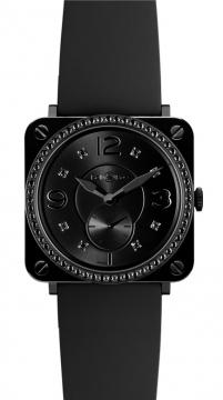Bell & Ross BR S Quartz 39mm Midsize watch, model number - BRS Black Ceramic Phantom Diamond, discount price of £3,114.00 from The Watch Source
