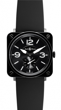 Bell & Ross BR S Quartz 39mm Midsize watch, model number - BRS Black Ceramic, discount price of £1,575.00 from The Watch Source