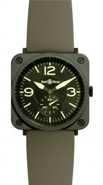 Bell & Ross BR S Quartz 39mm BRS Military Ceramic watch