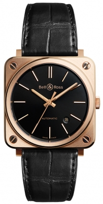 Bell & Ross BR S Automatic 39mm BRS92-BL-PG/SCR watch
