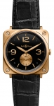 Bell & Ross BR-S Mechanical Gold 39mm BRS Pink Gold Black watch