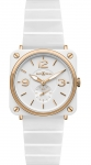 Bell & Ross BR S Quartz 39mm BRS Pink Gold and White Ceramic watch