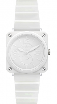 Bell & Ross BR S Quartz 39mm Ladies watch, model number - BRS White Ceramic Phantom Bracelet, discount price of £2,133.00 from The Watch Source