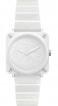 Bell & Ross BR S Quartz 39mm BRS White Ceramic Phantom Bracelet watch