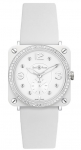 Bell & Ross BR S Quartz 39mm BRS White Ceramic Phantom Diamond watch
