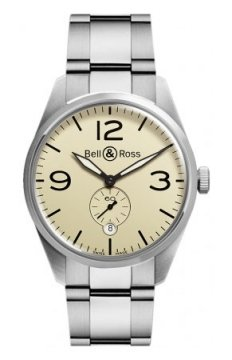 Bell & Ross BR 123 Vintage Mens watch, model number - BRV 123 Original Beige Bracelet, discount price of £1,710.00 from The Watch Source
