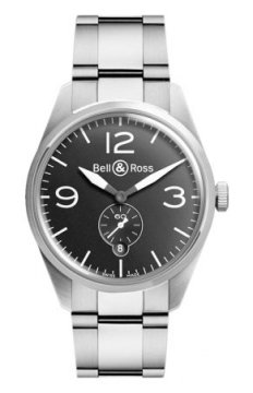Bell & Ross BR 123 Vintage Mens watch, model number - BRV 123 Original Black Bracelet, discount price of £1,710.00 from The Watch Source