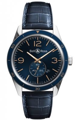 Bell & Ross BR 123 Vintage BRV123-BLU-ST/SCR watch