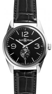 Bell & Ross BR 123 Vintage Mens watch, model number - BRV 123 Officer Black, discount price of £1,755.00 from The Watch Source