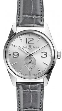 Bell & Ross BR 123 Vintage Mens watch, model number - BRV 123 Officer Silver, discount price of £1,655.00 from The Watch Source