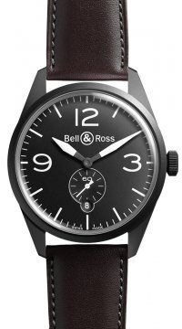 Bell & Ross BR 123 Vintage Mens watch, model number - BRV 123 Original Black Carbon, discount price of £1,755.00 from The Watch Source