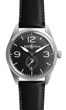 Bell & Ross BR 123 Vintage Mens watch, model number - BRV 123 Original Black, discount price of £1,575.00 from The Watch Source