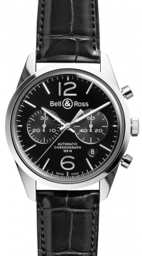 Bell & Ross BR 126 Vintage Mens watch, model number - BRV 126 Officer Black, discount price of £2,709.00 from The Watch Source
