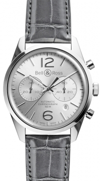 Bell & Ross BR 126 Vintage Mens watch, model number - BRV 126 Officer Silver, discount price of £2,709.00 from The Watch Source